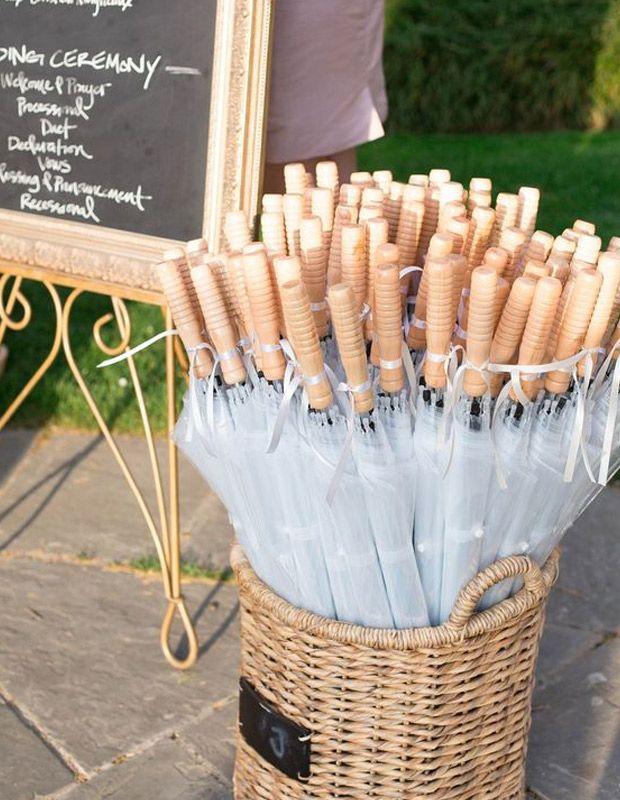 paraguas de regalo para una boda